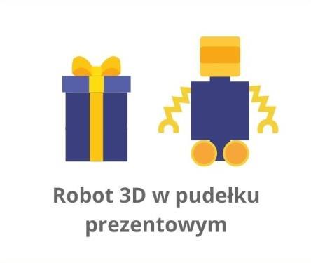 robot w pudełku prezentowym