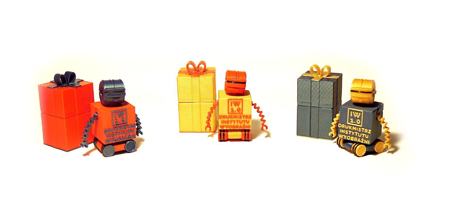 warianty kolorystyczne robota drukmistrz IW 1.0